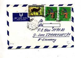 Lettre  Cachet San Pedro Sur Sauterelle Gazelle - Ivory Coast (1960-...)