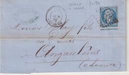 FRANCE : N° 22 . VARIETE DE PIQUAGE A CHEVAL . 1867 . - 1849-1876: Periodo Classico