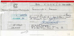 Banco Comercial Português . Nova Rede , 1991 , Letra , Bill Of Exchange , Used - Letras De Cambio