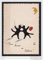 31)  TOULOUSE - BON BAISERS - (ILLUSTRATEUR PONI - CHATS NOIR - CAT - CHAT) - Toulouse