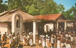 Ceylon, The Holy Shrine Of Kataragama (Sri Lanka)  (Ceylan), Best Wishes For The New Year 1960  (2 X Scan) - Sri Lanka (Ceylon)