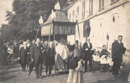 60-CLERMONT- CARTE-PHOTO- RUE DE LA GARE ( FÊTES, PROCESSION ) - Clermont