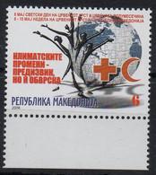 MACEDOINE - MACEDONIA - 2008 - RED CROSS - CROIX ROUGE - WELFARE STAMP - DON A LA CROIX-ROUGE - SURTAXE - - Macedonia