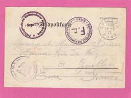 Carte En FM Du Camp D'Alten Grabow Vers Gaillon  1915 (Correspondance D'Auguste Leconte) - WW I