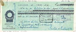 Portugal , 1968 , Letra , Bill Of Exchange , Used , Tax 4$00 , Embossed Seal , Banco Nacional Ultramarino , Vespa Sale - Letras De Cambio