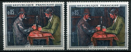 21371 FRANCE N°1321p**(Cérés) 85c. Cézanne : Bouchon Blanc Au Lieu De Rouge + Normal (non Fourni) 1961 TB - Varieties: 1960-69 Mint/hinged