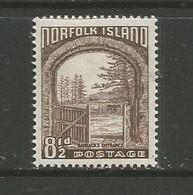 Norfolk Island  - 1953  Barracks Entrance 8.5d MNH **   SG 16  Sc 16 - Norfolk Island