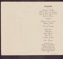 Menu Déjeuner Du 24 Septembre 1951 - Menus