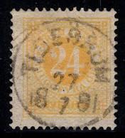 Suède 1872 Mi. 23B Oblitéré 80% 24 O, Chiffres - Usados