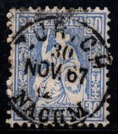 Suisse 1867 Mi. 33 Oblitéré 100% Helvetia Assis, 30 C - Usados
