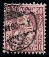 Suisse 1867 Mi. 35 Oblitéré 100% Helvetia Assis, 50 C - Usados