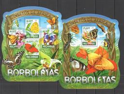 XX398 LAST ONE IN STOCK 2015 MOZAMBIQUE MOCAMBIQUE FAUNA INSECTES BUTTERFLIES BORBOLETAS KB+BL MNH - Butterflies