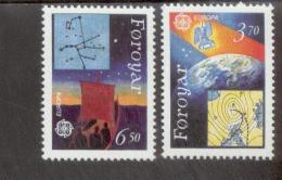 CEPT Europäische Weltraumfahrt Färöer 215 -216 Postfrisch MNH ** - 1991