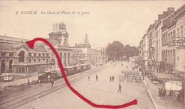 Namur La Gare TRAM à Vapeur !!! Carte 1° Guerre - Dinant