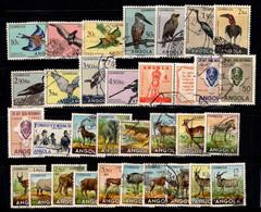 Angola 1951-53 Oblitéré 100% Oiseaux, Faune, Animaux - Angola