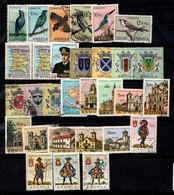 Angola 1950-1966 Oblitéré 100% Oiseaux, Faune, Armoiries, Palais, Militaires - Angola