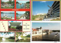 LOT DE 8 CPSM DE CERGY PONTOISE - Cergy Pontoise