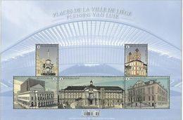 Belg 2020 - Places De La Ville De Liège ** (+ Une Feuille Transparente Imprimée) - Unused Stamps