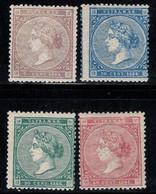 Antilles Espagnoles 1868 Mi. 26-29 Neuf ** 100% Reine Isabelle II - Antillen