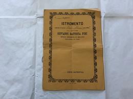 DOCUMENTO REGNO D'ITALIA ISTROMENTO NOTAIO BELLANO COMO 1886 CON AUTOGRAFO - Manuscripts
