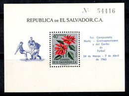 Salvador 1963 Mi. Bl. 14 Bloc Feuillet 100% Neuf ** Ligue De Football - El Salvador
