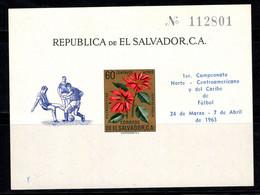 Salvador 1963 Mi. Bl. 15 Bloc Feuillet 100% Neuf ** Ligue De Football - El Salvador