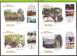Nbx314fb+ WWF FAUNA OLIFANTEN ZOOGDIEREN SAVANNAH ELEPHANT CHEETAH CAT CAR PRINCE BERNARD MAMMALS MOCAMBIQUE 2002 FDC's - FDC