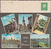 Allemagne 1960. Entier Postal Timbré Sur Commande. Die Bremer Stadtmusikanten (Grimm). Coq, Chat, Chien, âne, Roland - Gallinacées & Faisans