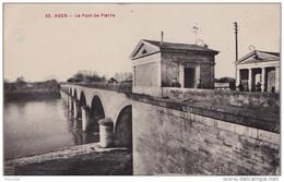 J12- 47) AGEN -  LE  PONT DE PIERRE  - (ANIMÉE - OCTROI) - Agen