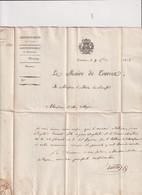 VAR-L.EMBLEMATIQUE-MAIRE DE TOURNES-AVIS DE RECRUTEMENT- DE M.ARTIGUES -AU MAIRE DE SAUSSET 7/9/1818++ - 1801-1848: Précurseurs XIX