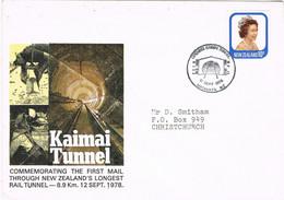 40077. Carta MATAMATA (New Zealand) 1978. Opening KAIMAI Tunnel. Apertura Del Tunel - Cartas