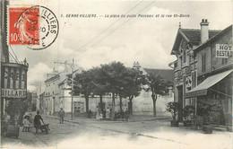 GENNEVILLIERS La Place Du Puits Ponceau Et La Rue St Denis - Gennevilliers