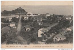 PA22- ROUTE DE  BOUGIE  A DJIDJELLI  (ALGERIE) VUE GENERALE DE MANSOURIAH ET L 'ILOT - (2 SCANS) - Bejaia (Bougie)