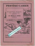 Vieux Papier :  Buvard - Protège Cahier: Fable La Fontaine : Le Renard Et La Cigogne ( Le Roy Le Bars , Tregomeur) - Animals