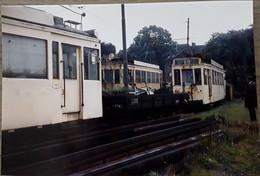 Wolvertem Meise Gekleurde Prachtfoto Van 3 Trams Londerzeel-Brussel Noord In De Tramstatie Van Wolvertem - Meise