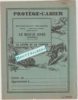Vieux Papier :  Buvard - Protège Cahier: Fable La Fontaine : Le Lièvre Et La  Tortue ( Le Roy Le Bars , Tregomeur) - Animals