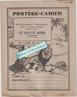 Vieux Papier :  Buvard - Protège Cahier: Fable La Fontaine :le Lion Et Le  Rat  ( Le Roy Le Bars , Tregomeur) - Animals