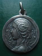 Belle Médaille Argent Art Nouveau Poinçon Crabe Graveur Adolphe Penin Lyon - Autres