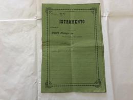 DOCUMENTO REGNO D'ITALIA ISTROMENTO NOTAIO COMO AUTOGRAFO MINISTRO CONTE CONSOLE BRASILE - Manuscripts