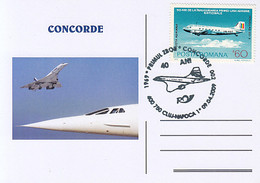 TRANSPORT, CONCORDE, SUPERSONIC PLANE, SPECIAL POSTCARD, 2009, ROMANIA - Concorde