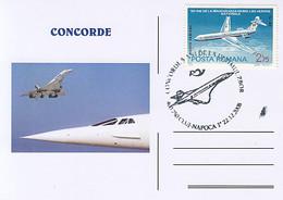 TRANSPORT, CONCORDE, SUPERSONIC PLANE, SPECIAL POSTCARD, 2008, ROMANIA - Concorde