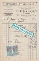 V P : Orne à Gacé : épicerie Parienne, Vin ,bière Paillette , Timbre , 1924 - Unclassified