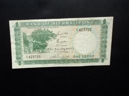 SIERRA LEONE * : 1 LEONE   ND 1969    P 1b      TTB - Sierra Leone