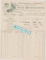 V P : Pharmacie-orthopédie J. Deschamps ,nantes-Nancy Pour  Messei ,orne ; 1923; Fabrique De Bandages - Unclassified