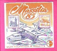 BLOC CNEP N° 6  SALON PHILATELIQUE DE MARSEILLE 1985 MASSILIA 85 HYDRAVION LEO H 242 ND DE LA GARDE Cnep06 - CNEP