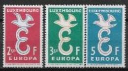 Luxembourg 1958 Neufs ** N°548/550 Europa - 1958