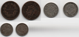 + LUXEMBOURG + 10 CTS 1901  + 5 CTS 1901 + 5 CTS 1855 + TRES BELLES  + - Luxembourg