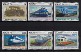 CUBA 2007. TRENES ELÉCTRICOS. MNH . EDIFIL 5029/34 - Unused Stamps