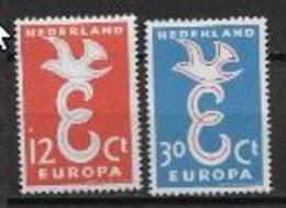 Pays Bas 1958 Neufs ** N°691/692 Europa - 1958