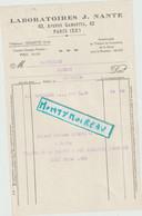V P : Paris 20 Em , Laboratoires J. Nante , Pour Messei, Orne - Unclassified